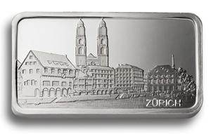Degussa Goldhandel 1 oz Silberbarren Zürich