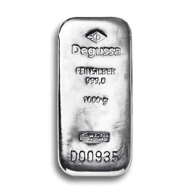 Degussa Goldhandel Silberbarren 1 kg