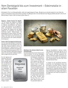 Vom Dentalgold bis zum Investment