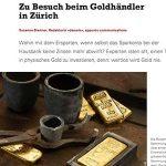 Degussa zu Besuch beim Goldhaendler in Zuerich