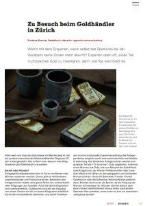 Zu Besuch beim Goldhändler in Zürich
