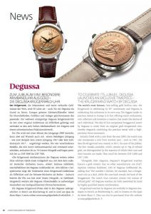 TO CELEBRATE ITS JUBILEE, DEGUSSA LAUNCHES AN EXCLUSIVE TIMEPIECE – THE KRUGERRAND WATCH BY DEGUSSA