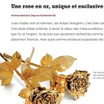 Une rose en or, unique et exclusive