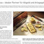 Degussa – idealer Partner für Altgold und Anlagegold