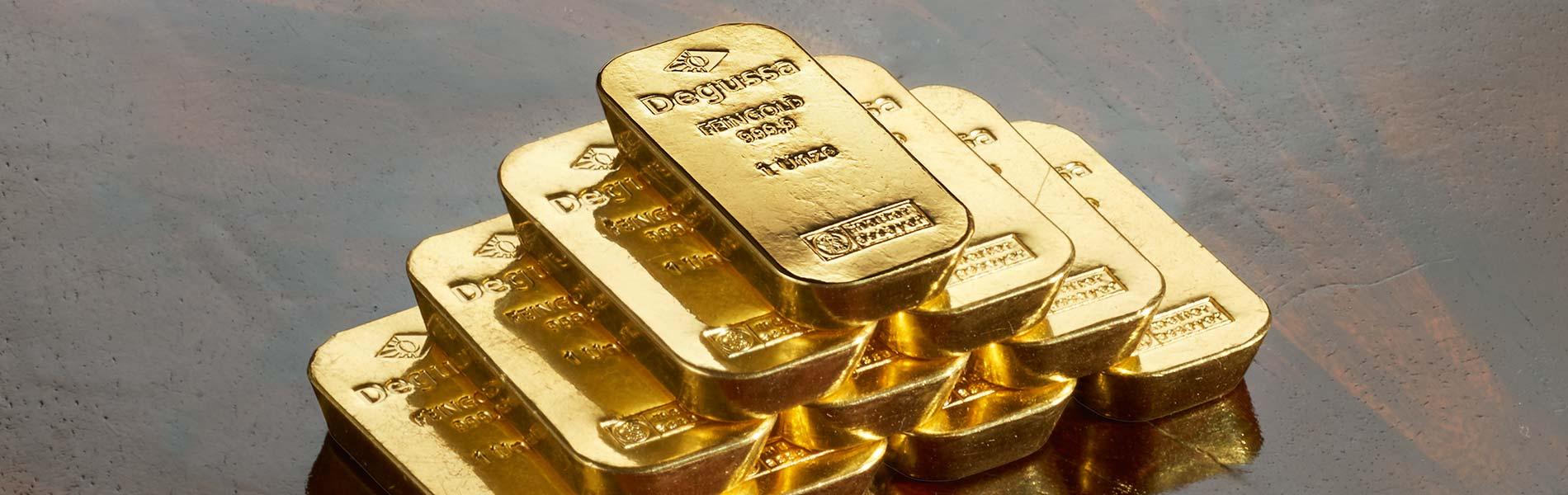 Verpfändung Goldbarren