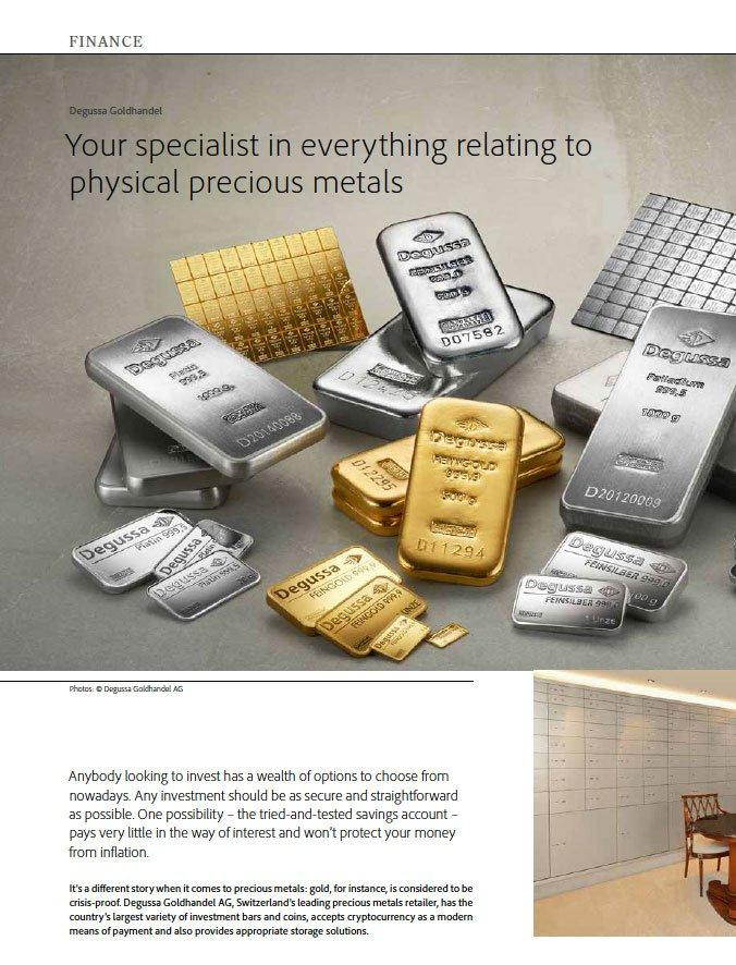 Degussa Finance spacialist precious metals