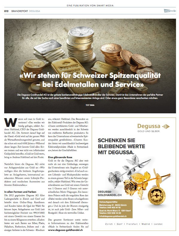 Wir stehen für Schweizer Spitzenqualität – bei Edelmetallen und Service