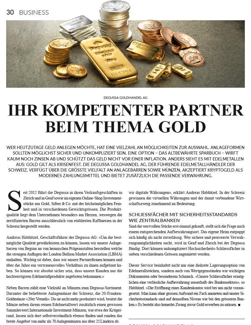 Ihr kompetenter Partner beim Thema Gold