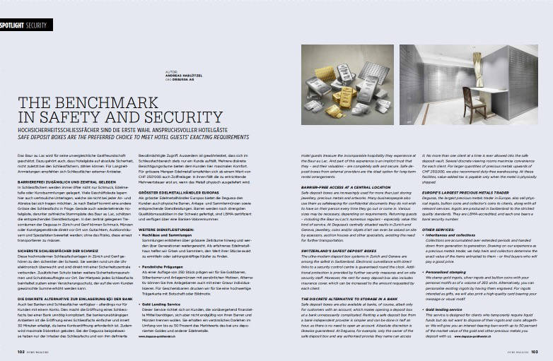 The benchmark in safety and Security